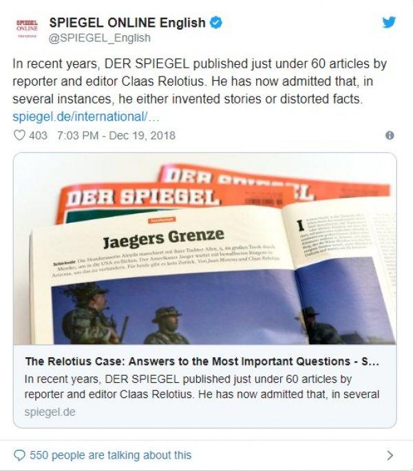 Der Spiegel admits created fake stories about Turkey