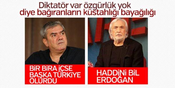 Erdoğan'dan Metin Akpınar'ın küstah sözlerine yanıt