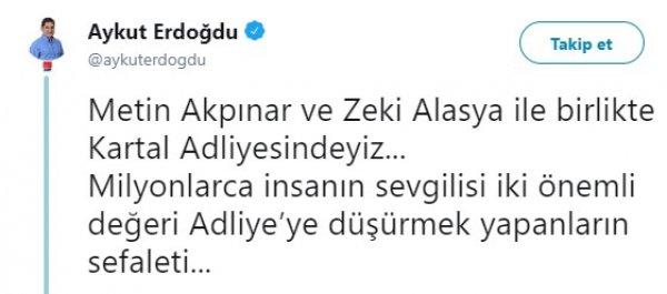 CHP'li Erdoğdu'dan Metin Akpınar'a destek mesajı