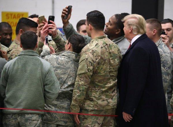 Trump Irak ziyaretinde Erdoğan'dan bahsetti