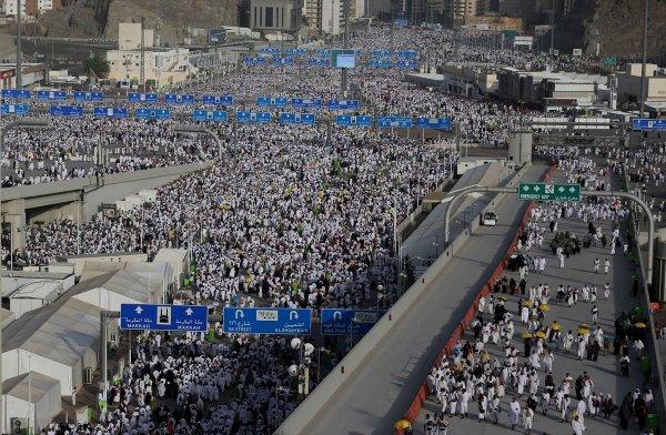 Kutsal topraklardaki Müslümanların Hac sevinci