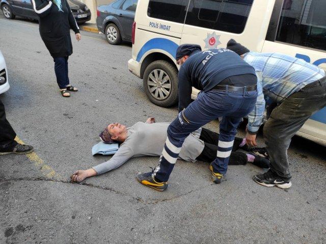 yangin engelli 6151 - Beyoğlu'nda yanan evde engelli eşinin olduğunu görünce bayıldı