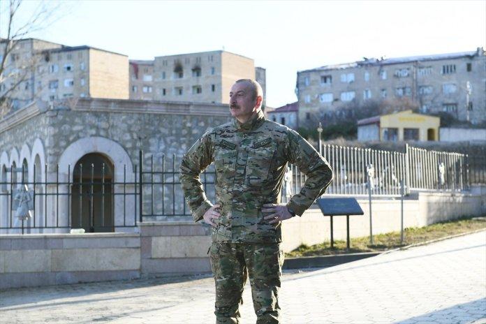 Azerbaycan Cumhurbaşkanı İlham Aliyev, Şuşa yı ziyaret etti #9