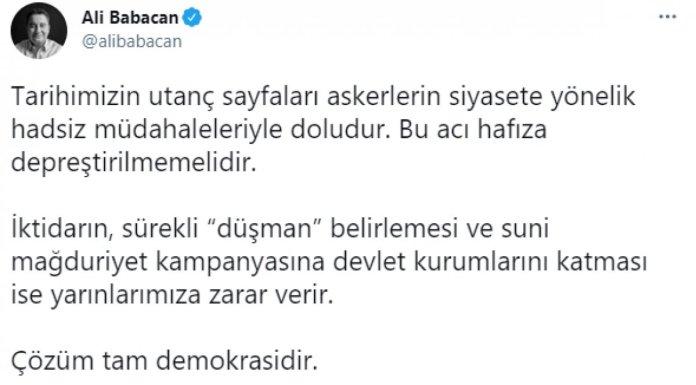 Ahmet Davutoğlu nun bildirici amiraller hakkındaki açıklamaları #2