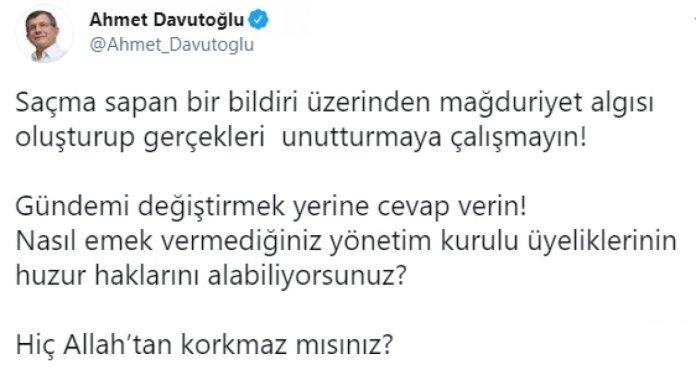 Ahmet Davutoğlu nun bildirici amiraller hakkındaki açıklamaları #3