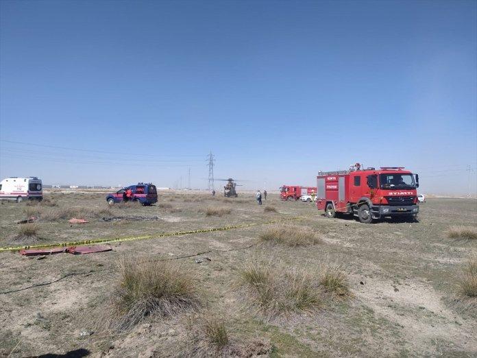 Konya da askeri uçak düştü  #10
