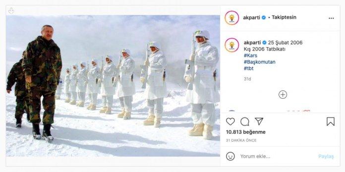 AK Parti, Cumhurbaşkanı Erdoğan ın 2006 kış tatbikatındaki görüntülerini paylaştı #2