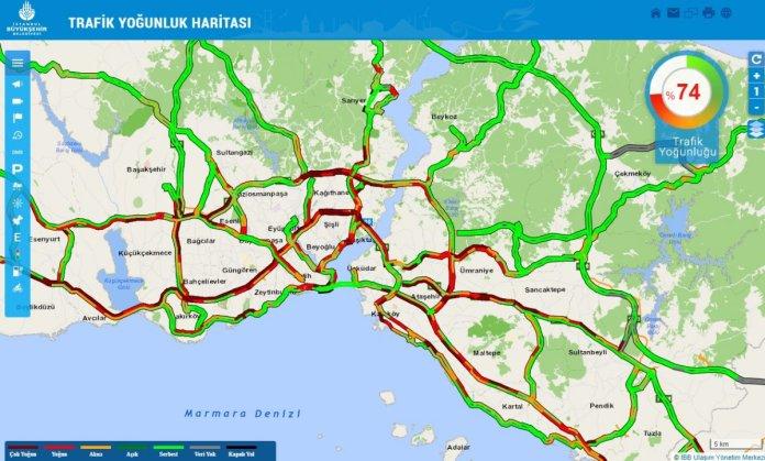 İstanbul da trafik yoğunluğu #1