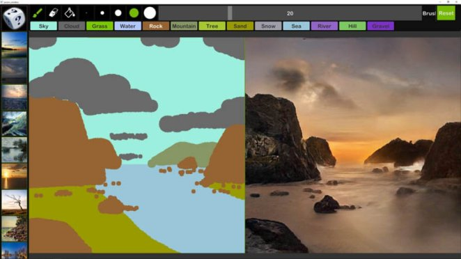 NVIDIA Canvas released #1 that turns simple drawings into real photos