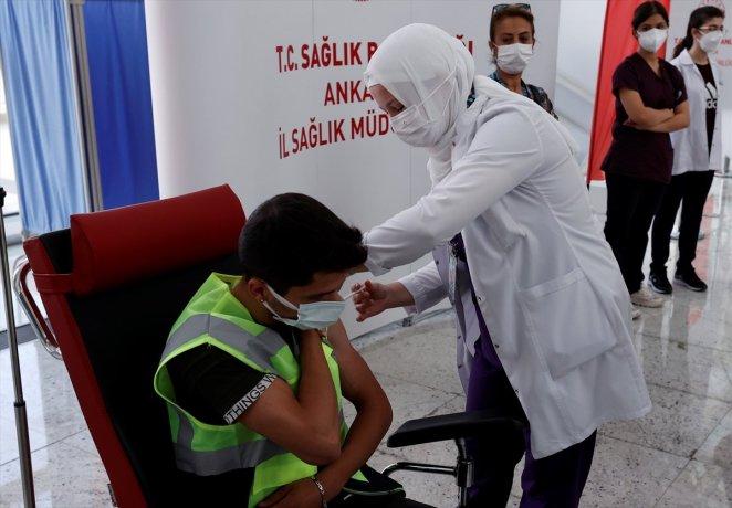 Coronavirus vaccination started at Ankara High Speed Train Station #5