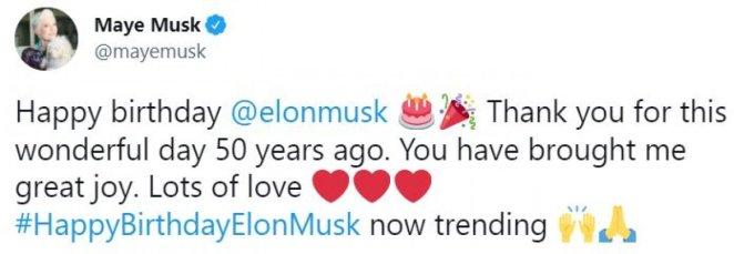Maye Musk celebrates her son Elon Musk's birthday with a photo #1
