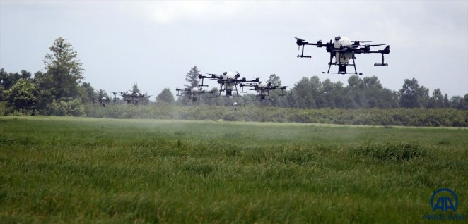 Multi-flight spraying trial was carried out with ZIHAs for the first time in Turkey #1