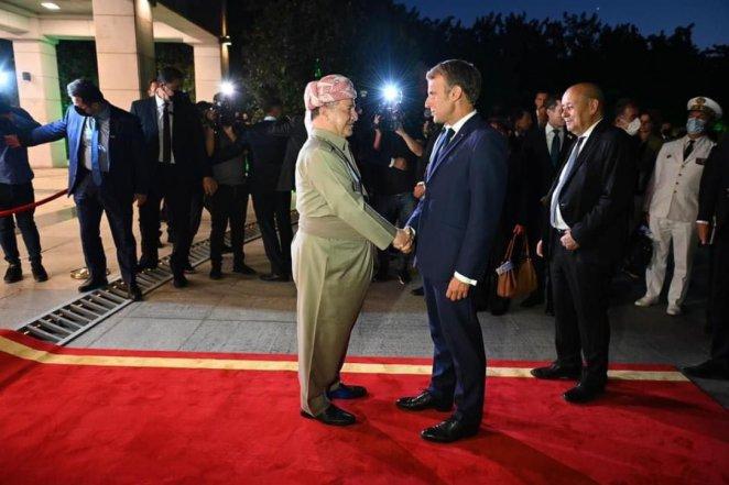 Emmauel Macron met with KRG President Barzani #4