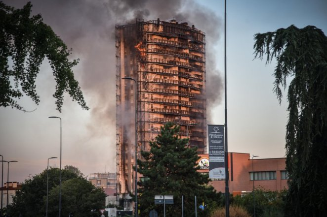Fire in 15-storey building in Italy #3