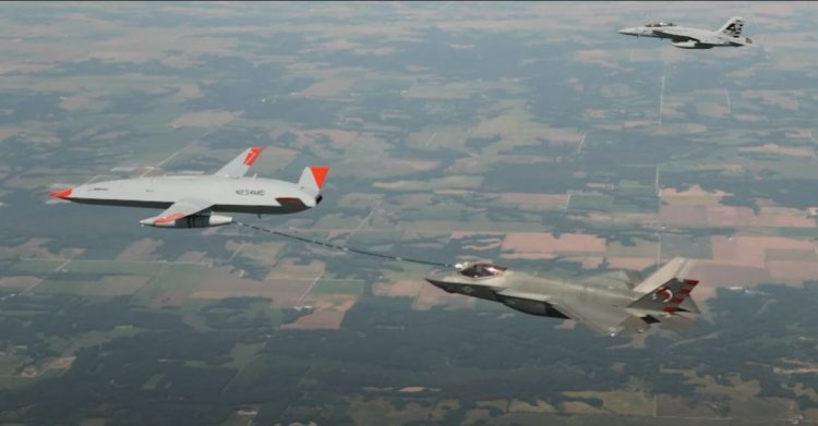 Boeing in drone tankeri, yakıt ikmali yaptı #1