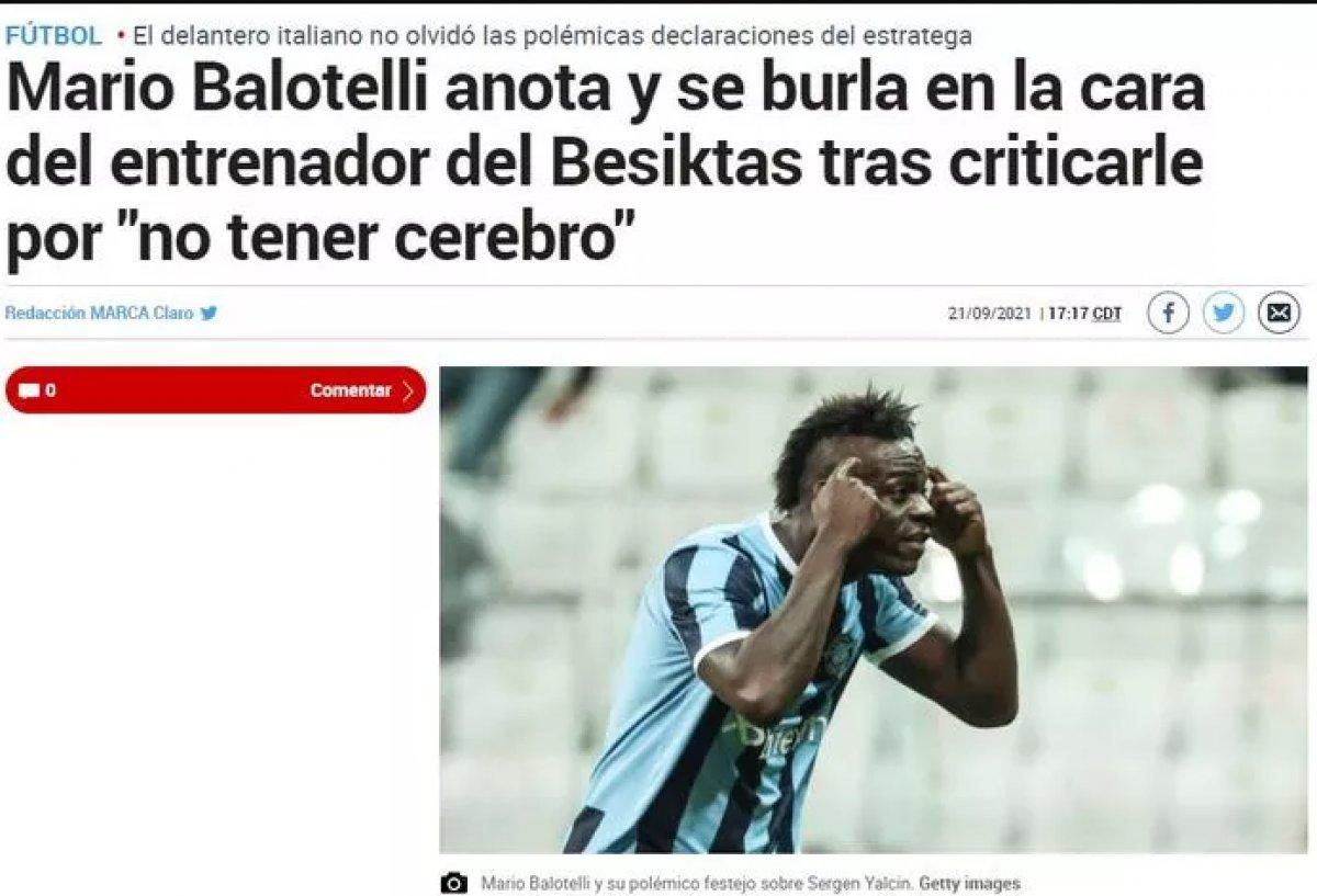 Balotelli nin yaptığı hareket dünya basınında manşet oldu #11