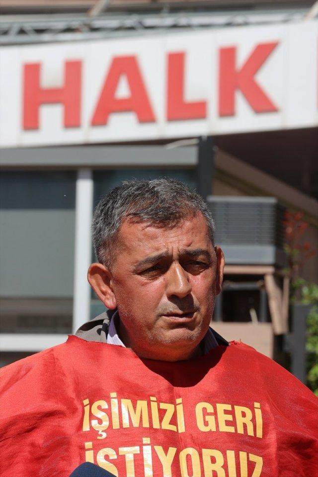 İşten çıkarılan işçiler CHP Genel Merkezi önünde basın açıklaması yaptı #5