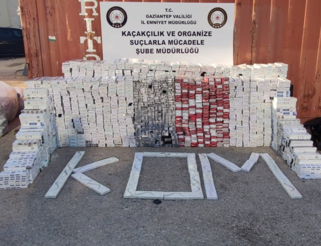 Gaziantep te 33 bin kaçak sigara ele geçirildi #1