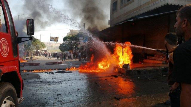 Cerablus ta eş zamanlı bombalı saldırı: 1 ölü 15 yaralı #10
