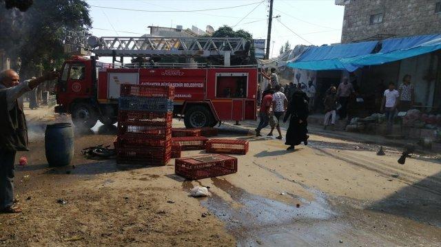 Cerablus ta eş zamanlı bombalı saldırı: 1 ölü 15 yaralı #1