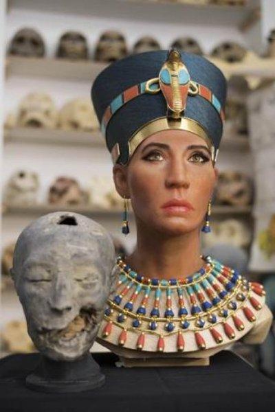 Nefertiti'nin yüzü yeniden modellendi