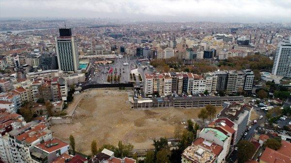 Yıkım sonrası Atatürk Kültür Merkezi alanı görüntülendi