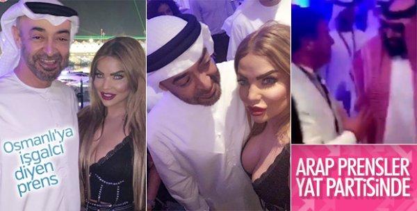 Arap prenslerin yat partisinden yeni görüntüler