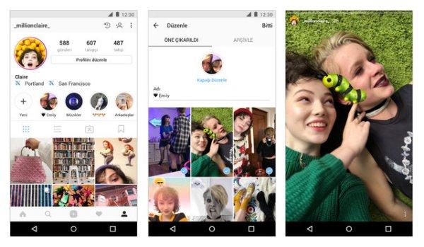 Instagram'dan hikaye arşivi özelliği