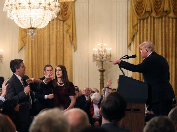 CNN muhabiri Trump'ı sinirlendirdi