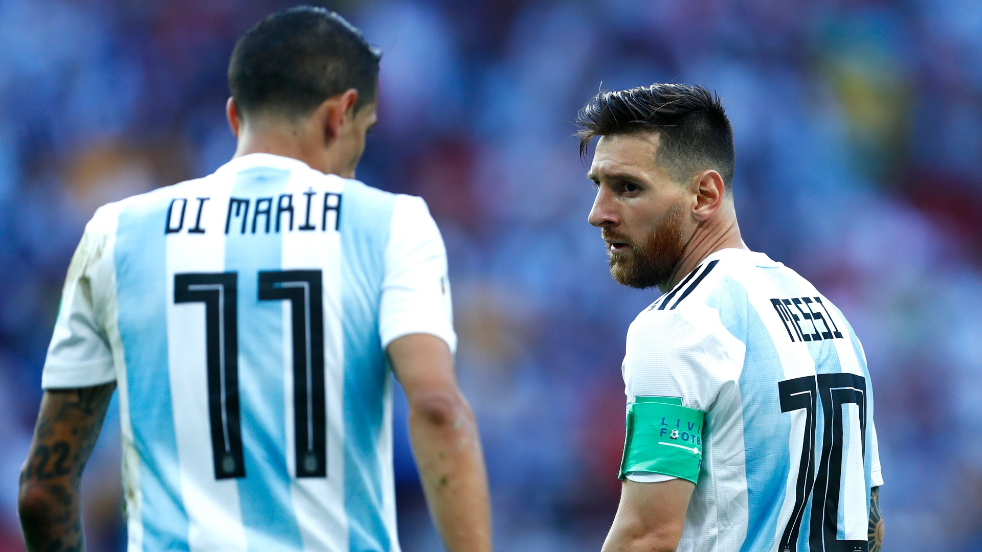 angel di maria on lionel messi joining