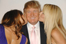Donald Trump with his wife Melania and model Heidi Klum in 2008