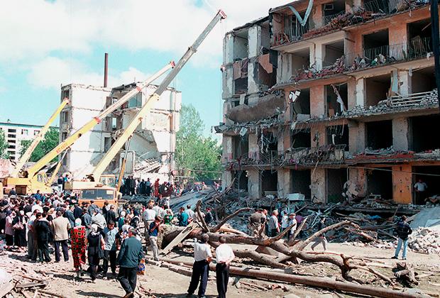 Lieu d'explosion d'un bâtiment résidentiel à Buynaksk (Dagestan)