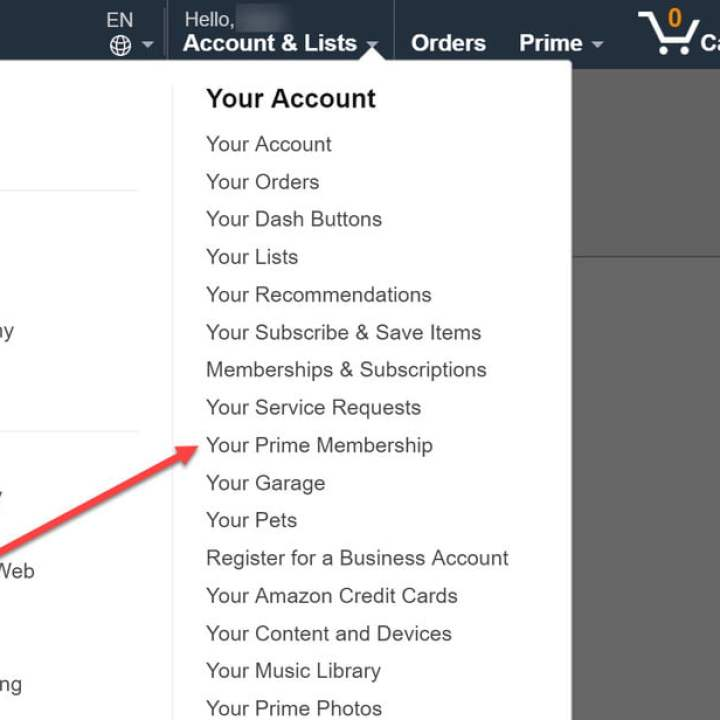 come cancellare l'abbonamento all'account Prime Amazon