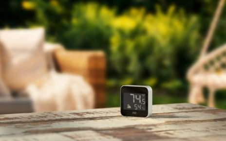 Eve Weather is a HomeKit weather station that tracks your home's microclimate