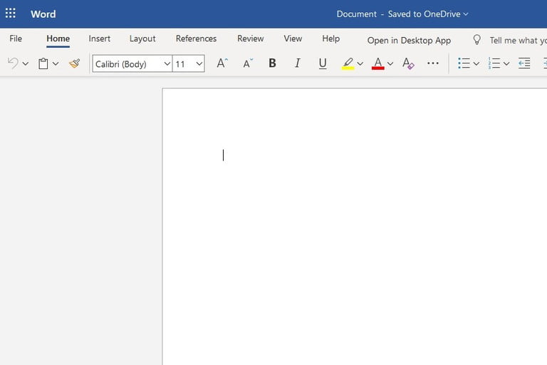 Microsoft Office Web app screenshot