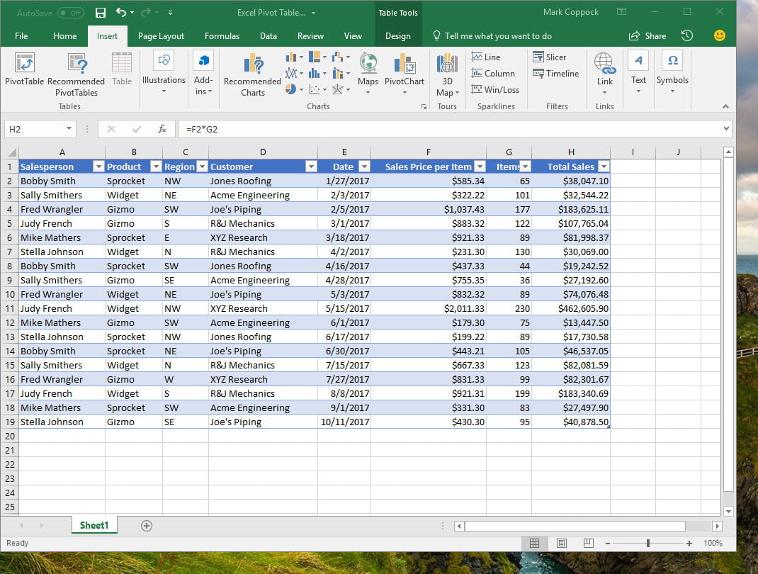 How To Create A Pivot Table In Excel To Slice And Dice