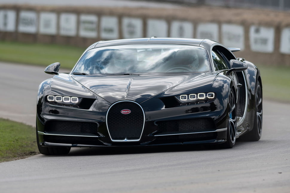 bugatti chiron attempts world speed record  goodwood