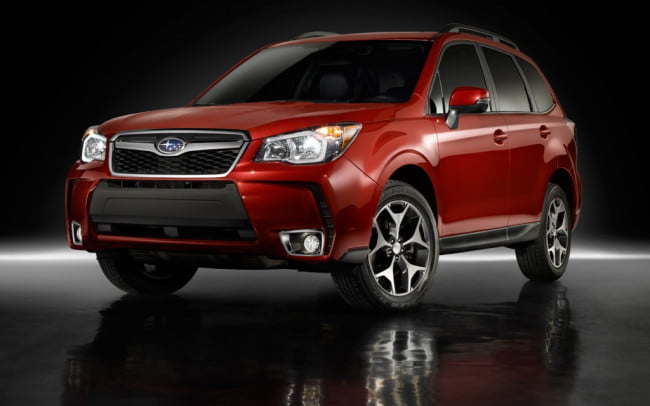 2014 Subaru Forester front three quarter view red