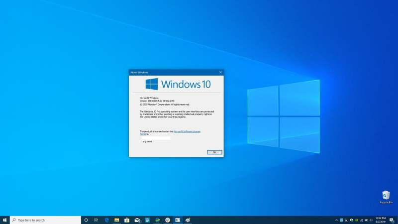 come eseguire l'aggiornamento da Windows 10 Home Pro Winver2