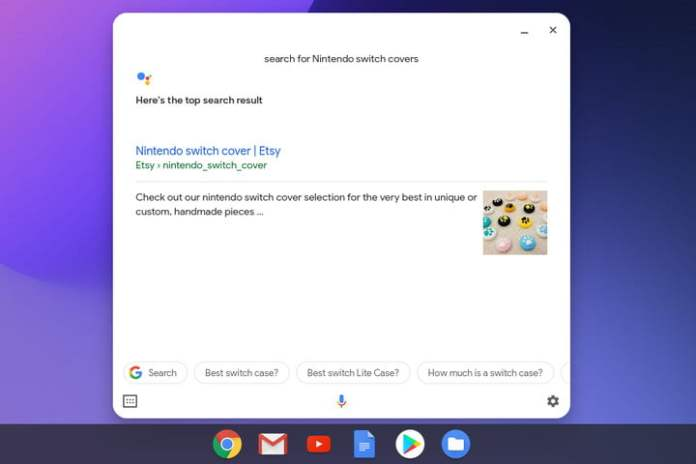 Chromebook Google Assistant Search Results