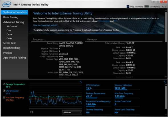 how to check your cpu temperature intelxtu