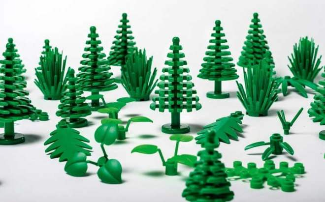 Lego plants made of sugarcane plastic