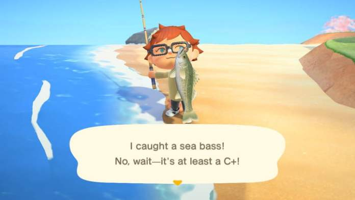 Animal Crossing sea bass