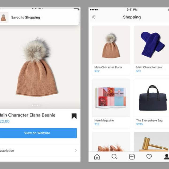 instagram aggiornamento shopping video conf salvato en