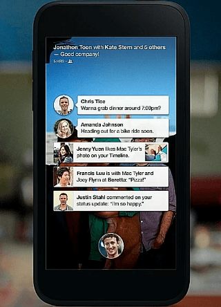 Facebook Home with Chat Heads Messaging