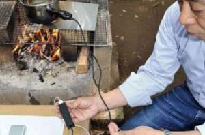 awful ways to charge your phone Pan Charger