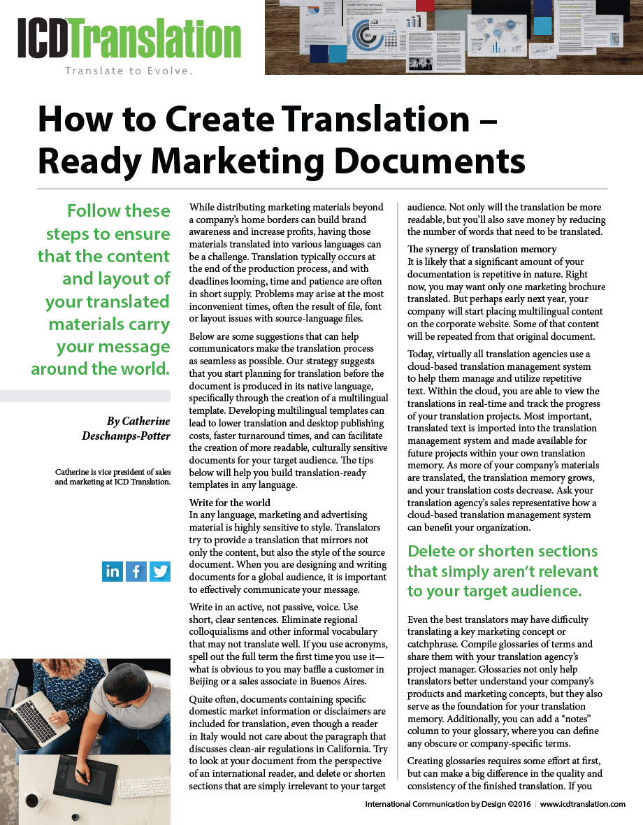 How to Create Translation Ready Documents Resource