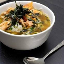 Экзотический суп из семги и зеленого чая