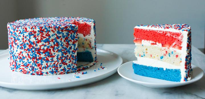 This Red, White And Blue 'Fourth-fetti' Cake Is Better