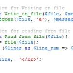 Read and Write with Php